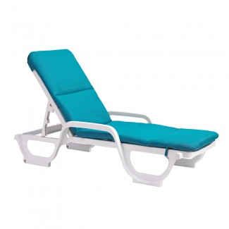 Contract Chaise Lounge Cushion with Hood