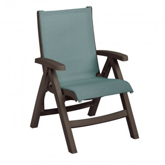 Belize Folding Sling Chair with Bronze Frame
