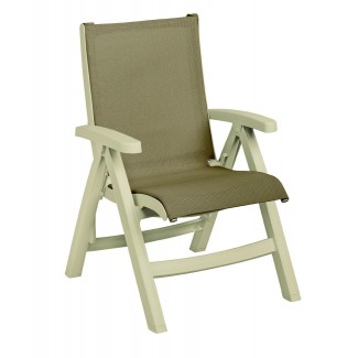Grosfillex Belize Folding Sling Chair for Poolside and Lounge