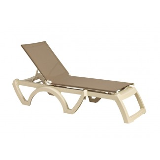 Grosfillex Calypso Sling Chaise Lounge for Commercial Use