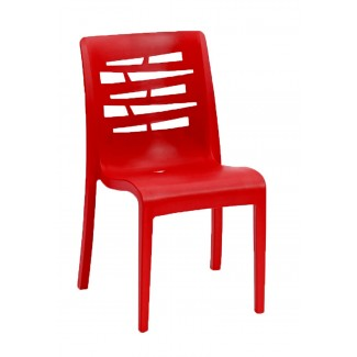 Outdoor restaurant stacking side chair