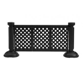 Restaurant Hospitality Portable Fencing 3 Panel Fence Section