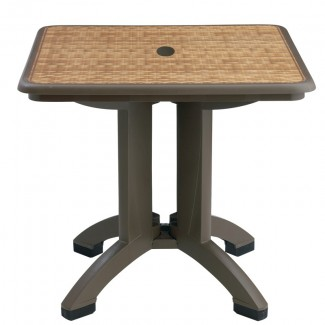 "Havana Grosfillex 32"" Folding Table"
