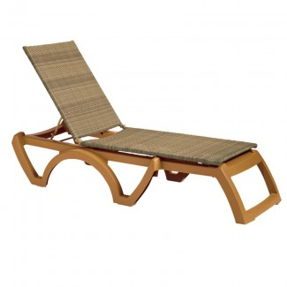 Restaurant Hospitality Poolside Furniture Java All-Weather Wicker Chaise Lounge