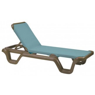 Restaurant Hospitality Poolside Furniture Restaurant Hospitality Poolside Furniture Marina Chaise Lounge Without Arms - Bronze Mist Frame