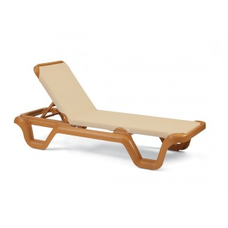 Marina Chaise Lounge without Arms - Teakwood Frame