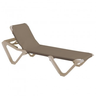 Grosfillex Nautical Sling Chaise Lounge for Commercial Use