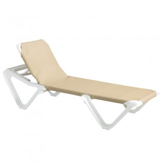 Nautical Adjustable Sling Chaise Lounge