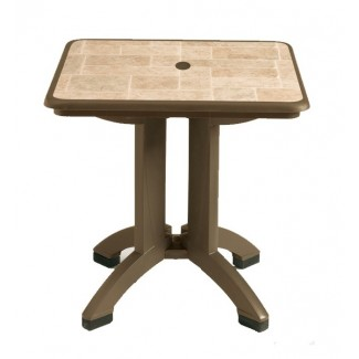 "Siena Grosfillex 32"" Square Folding Table"