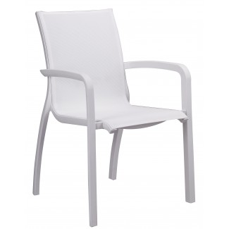 Grosfillex stacking outdoor arm chair