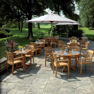 Grosfillex outdoor restaurant tables
