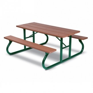 GV106G 6ft Picnic Table Site Seating Composite Wood Bench