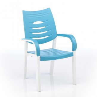 Happy Stacking Resin Arm Chair
