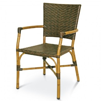 Havana Rattan Stacking Arm Chair