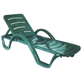 Havana Stacking Sunlounger in Green