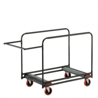 "Heavy Duty Round Table Cart 31"" x 61"" x 34"" Side Stack"