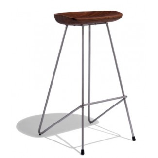 Heidi Hospitality Restaurant Mid-Century Modern Backless Bar Stool