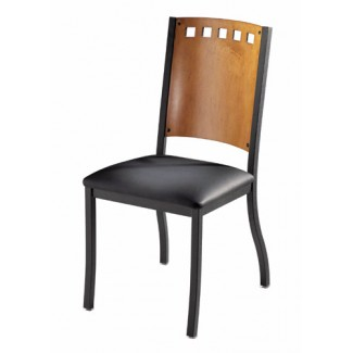 Hoffman Side Chair with Upholstered Seat and Wood Back 825