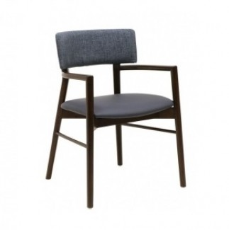 Holsag Toleda Hospitality Mid-Century Arm Chair - Profile View