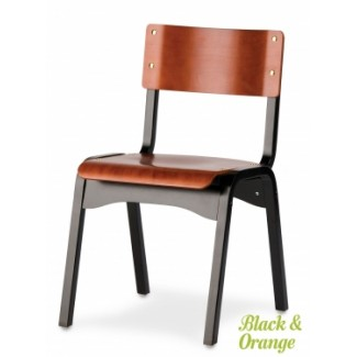 Holsag Carlo Stacking Side Chair - Two Tone Finish