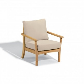 Hospitality Restauarant Hotel Chelsea Teak Mera Upholstered Outdoor Deep Seating Club Arm Chair