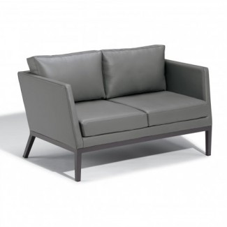 Hospitality Restauarant Hotel Pavion Salino Upholstered Outdoor Deep Seating Loveseat