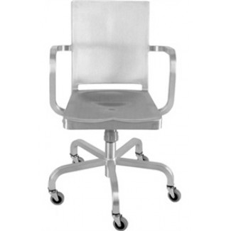Hudson Aluminum Swivel Arm Chair with Casters