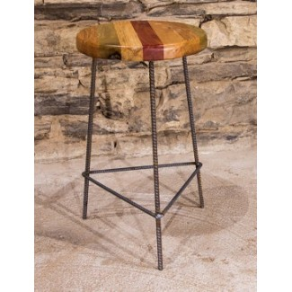 Hue Butcher Block Bar Stool