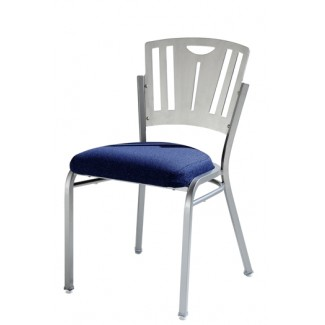 Impilato Steel Stacking Side Chair with Metal Back 12-SIX-M