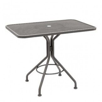 "In Stock Contract Mesh 36.5"" Square Table"