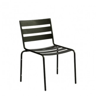 Metro Wrought Iron Stacking Side Chair