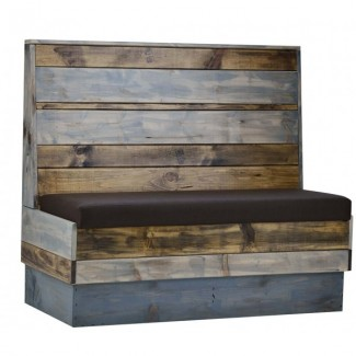 Wood Back Industrial Booth Seating