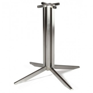 Gehry Stainless Steel Industrial Bar Table Base