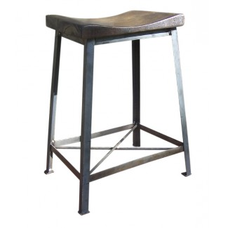 Industrial Saddle Stool  sc 1 st  RestaurantFurniture.com & Reclaimed Wood Bar Stools - Industrial Saddle Stool ... islam-shia.org