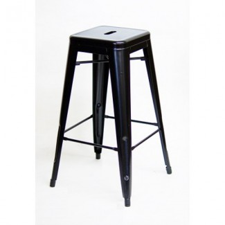 Edison Backless Bar Stool - Black Finish