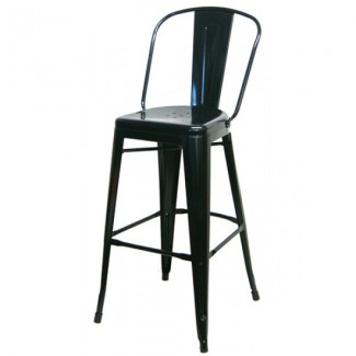 Edison Bar Stool - Black Finish