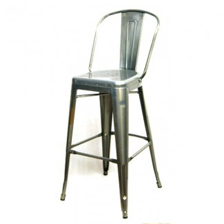 Edison Bar Stool - Pewter Finish
