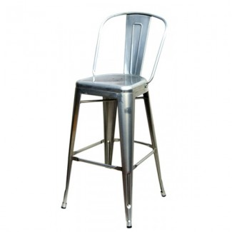 Edison Bar Stool - Silver Finish