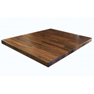 "36"" Square Black Walnut Butcher Block Table Top"