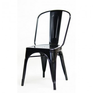Industrial Style Restaurant Chairs Edison Restaurant Chair - Black Finish