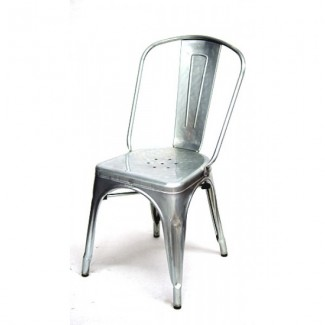 Edison Restaurant Chair - Silver Finish