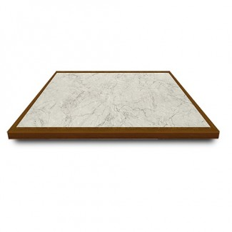 "24"" Square Laminate Table Top with Inlay Wood Edge"