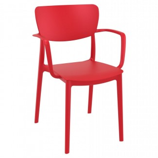 ISP126-Lisa Mid Century Modern Stacking Resin Restaurant Commercial Hospitality Arm Chair