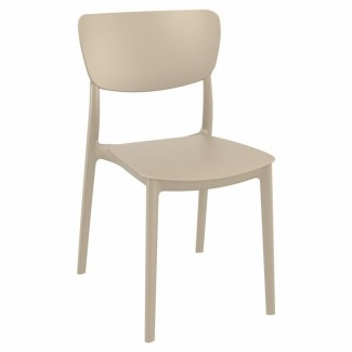 ISP127 Monna Mid Century Modern Stacking Resin Restaurant Commercial Hospitality Side Chair