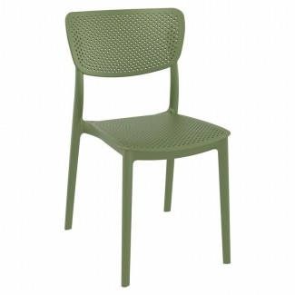 ISP129 Lucy Mid Century Modern Stacking Resin Restaurant Commercial Hospitality Side Chair