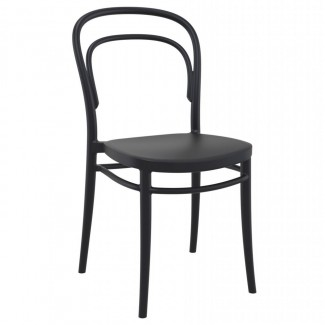 ISP251 Marie Resin Commercial Restaurant Bar Hospitality Resort In Stock Outdoor Patio Stacking Side Chair