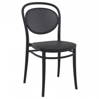 ISP257 Marcel Resin Commercial Restaurant Bar Hospitality Resort In Stock Outdoor Patio Stacking Side Chair