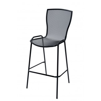 Italian Metal Cafe Emu Restaurant Bar Stool Syrene75 Anthracite Stacking