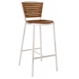 Italian Wrought Iron Restaurant Bar Stools Karen Bar Stool - Aluminum Collection