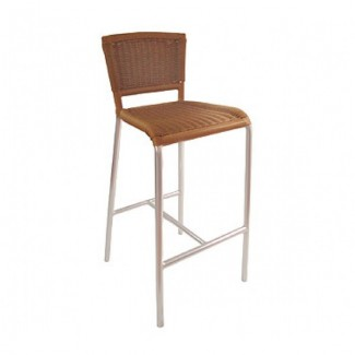 Italian Wrought Iron Restaurant Bar Stools Laura Bar Stool - Aluminum Collection